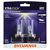 honda clock bulb - SYLVANIA - H11 XtraVision - High Performance Halogen Headlight Bulb, High Beam, Low Beam and Fog Replacement Bulb (Contains 2 Bulbs)