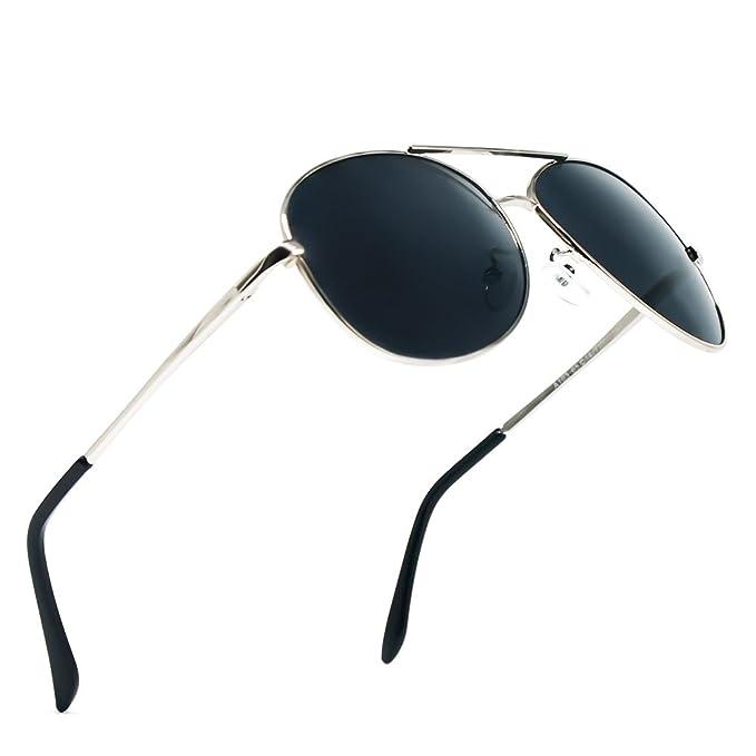 Gafas de Sol Aviador Hombre Mujer Clásico Estilo Marco Metal Lentes Polarizadas(BLACK) - BLDEN: Amazon.es: Ropa y accesorios