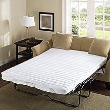 "Madison Park Essentials Frisco Microfiber Sofa Bed Pad, 60x72"", White"