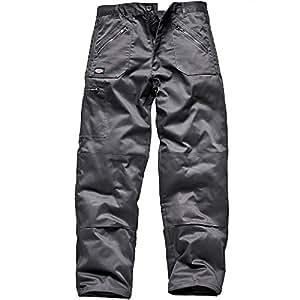 "Dickies Redhawk Action Work Trousers Regular Leg (Waist 34"", Grey)"