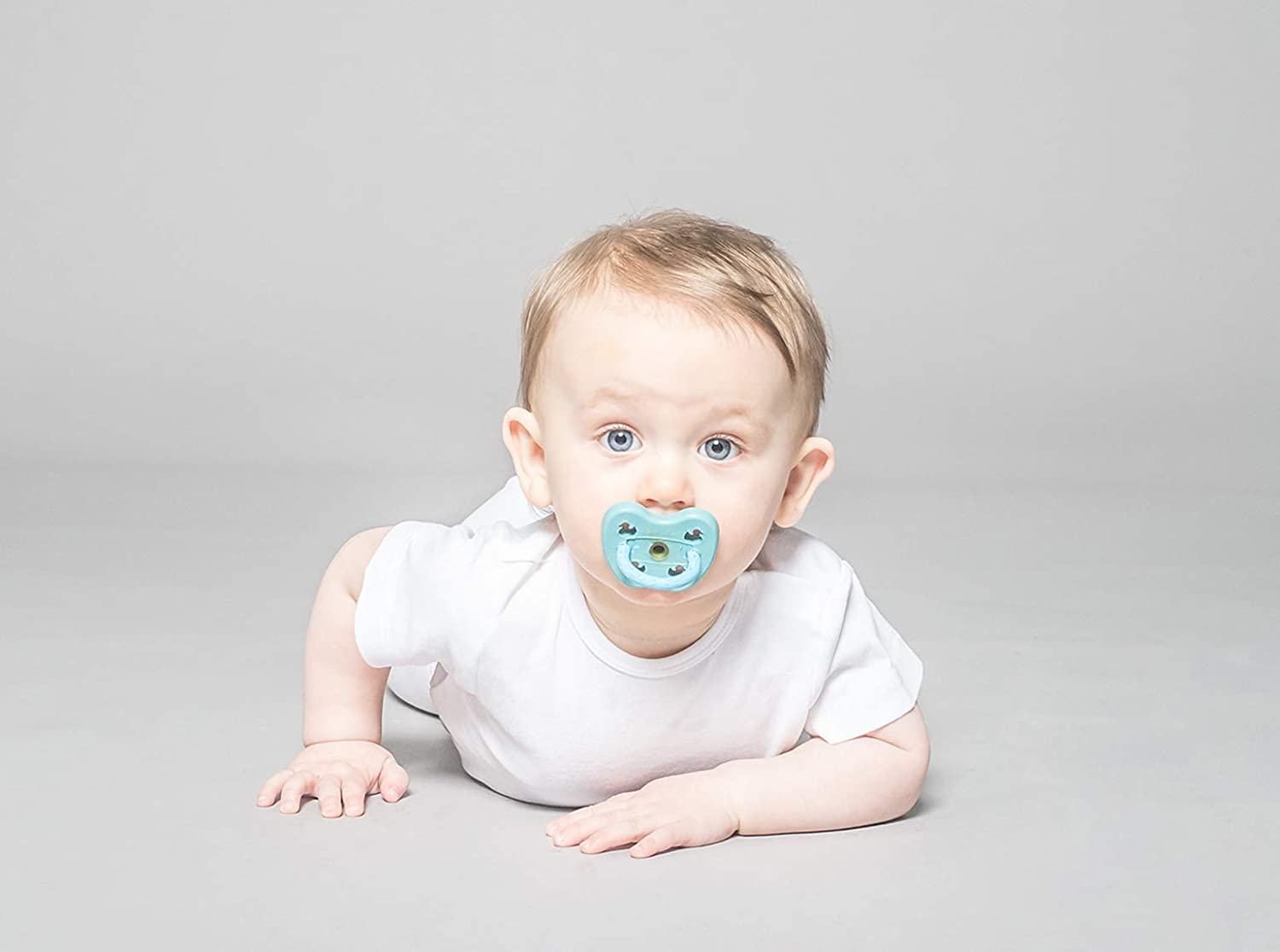 BPA-Free and Plastic-Free HEVEA Round Pacifier Made from Natural Rubber Shiitake Grey, 3-36 Months