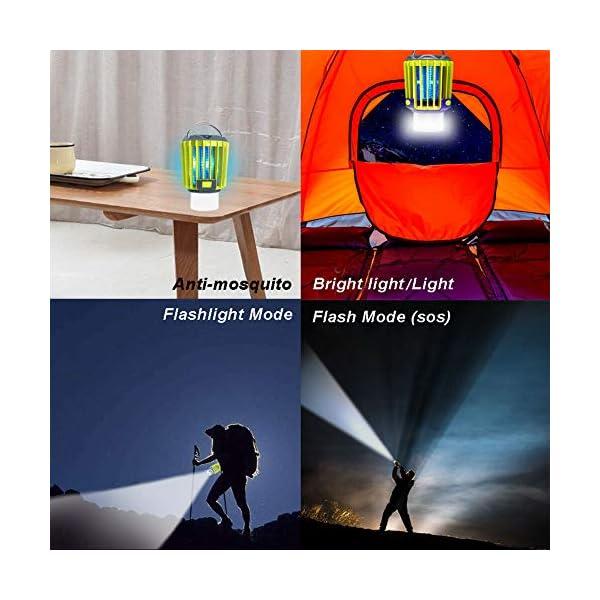 Anordsem 3 in 1 Lanterna da Campeggio Lampada Antizanzara Torcia Impermeabile IP67 con USB ed Energia Solare… 4 spesavip