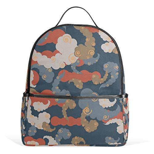 MUOOUM Clound Colorful Vertigo Circle Backpack Casual Daypack School College Travel Bag for Teens Boys Girls