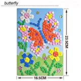 GreatestPAK Kids DIY Mosaic Diamond Sticker Jigsaw, Animals Pattern Art Kits Educational Puzzle Funny Creative Toys, Gift for Baby Birthday Age 3-9 Years Old (Butterfly)