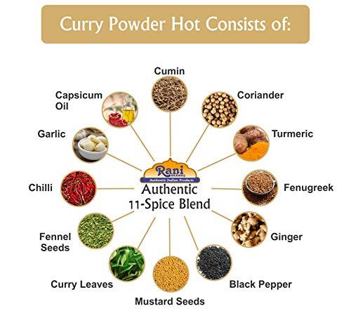 Rani Curry Powder Hot Natural 11-Spice Blend 2lbs (32oz) Bulk ~ Salt Free   Vegan   Gluten Friendly   NON-GMO 5