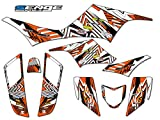 Senge Graphics All Years Kawasaki KFX 700, Mayhem Orange Graphics Kit