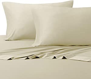 Royal Hotel Silky Soft Bamboo Cotton Sheet Set, 100% Bamboo-Cotton Bed Sheets, Top Split King Size, Sand