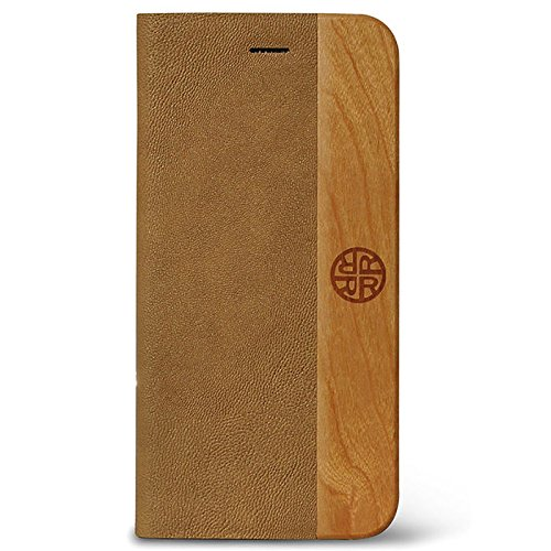 amazon com designer iphone 6 plus folio case vegan leatherdesigner iphone 6 plus folio case vegan leather \u0026 natural wood folio case by reveal stylish designer wood and leather exterior eco friendly flip