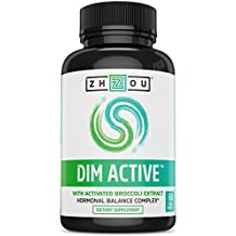 DIM Active™ DIM Supplement - Menopause and Estrogen Metabolism Supplement with 250mg DIM plus Broccoli Seed Extract and Bioperine® - Hormone Balance Support for Women and Men - 60 Capsules