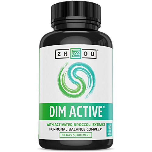 DIM Active DIM Supplement - Menopause & Estrogen Metabolism Supplement with 250mg DIM Plus Broccoli Seed Extract & Bioperine - Hormone Balance Support for Women & Men - 60 Capsules