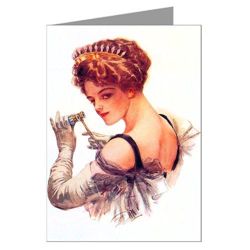 Single Greeting Card of Harrison Fisher