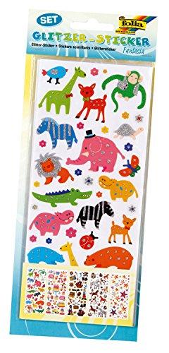 folia GLOREX 6 1223 030 Glitter Sticker ' ' Fantasia ' ' 5 Sheets, Plastic, Multicoloured, 29 x 11.5 x 0.2 cm, 1 Units (0.2 Units)