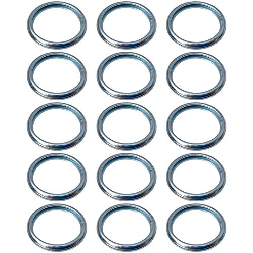 Prime Ave OEM Engine Oil Drain Plug Washer Gaskets For Subaru Part# 803916010 (Pack of 15)