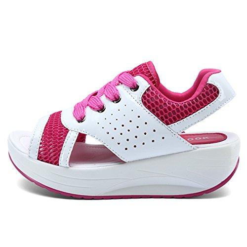 Annabelz Dam Sandaler Fitness Sandaler Plattform Kilar Kvinnor Skor Roseo