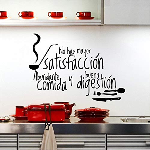 Jisou Lettering Words Wall Mural DIY Removable Sticker Decoration Tableware Sticker Kitchen Restaurant is Decorated in ()