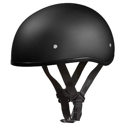 d7e338286686 Amazon.com  D.O.T. DAYTONA SKULL CAP W O VISOR- DULL BLACK  Automotive