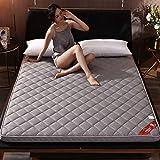 Portable Mattress Pad,6 cm Thick Ultra Soft Luxury Noiseless Sleeping Pad Tatami Home-Gray Full:120x200cm(47x79inch)