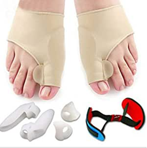 Kapmore Bunion Corrector Set Soft Breathable Toe Separator Bunion Splint Toe Spacer