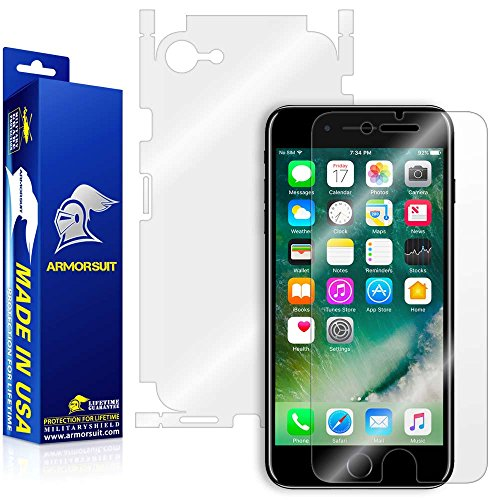 ArmorSuit Apple iPhone 7 Screen Protector + Full Body MilitaryShield Full Skin + Screen Protector Compatible with iPhone 7 - HD Clear Anti-Bubble