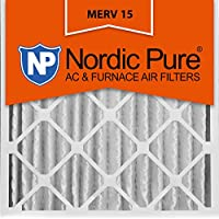 Nordic Pure 20x20x4 (3-5/8 Actual Depth) MERV 15 Pleated AC Furnace Air Filter, Box of 2