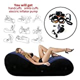 Inflatable Position Sofa Sex Bed Sofa - with Pump Stretch Chaise Relaxation and Yoga Chair Handcuffs & Leg Cuffs Yoga Chaise Lounge Relax Chair Chaise Lounge Air Sofa Portable Inflatable Sex Furniture Lounger for Couples Sex Position BDSM Bed