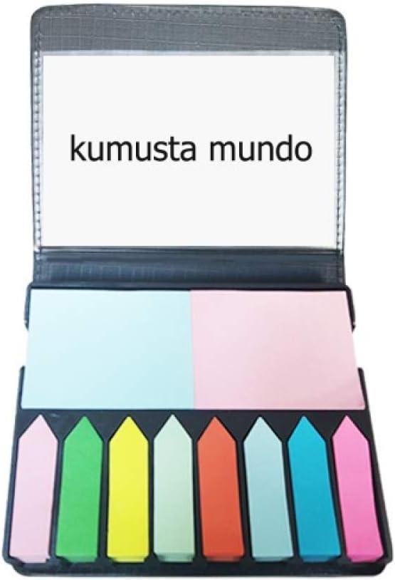 Hello World Filipino Self Stick Note Color Page Marker Box