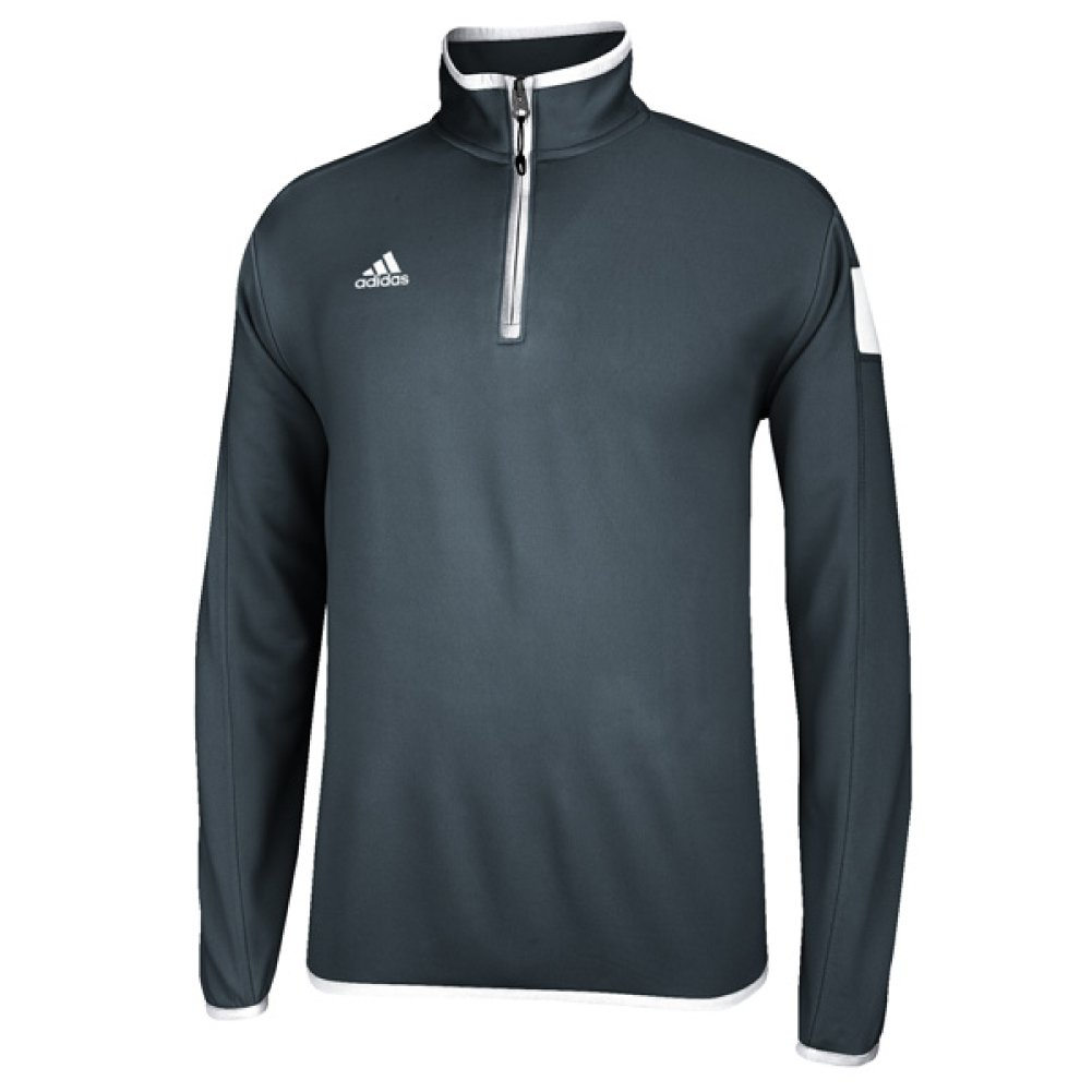 adidas climalite Shockwave 1/4 Zip Long sleeve, Onix Grey/White, Small by adidas