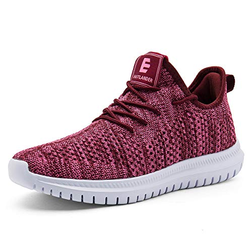 EAST LANDER Sneakers for Men and Women Lightweight Athletic Walking Shoes Casual Sneakers Lace-up Running Sports Shoes SPT002-W4-38