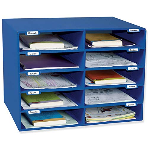 Pacon PAC1309 Classroom Keepers Mailbox 10 Slots Blue
