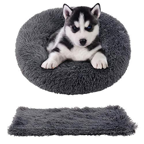 🥇 Cozywind Cama Gato Suave Cama Perro Redonda+manta para mascotas