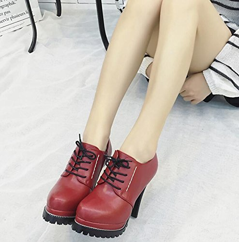 Cadena Multa Mujer Botas Roja Botas Con Nueva Impermeables Simple De Costura Tac KHSKX La zwqc0gqp