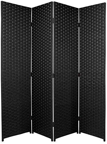 BlueBoxInnovations ENTWINE SQ Black Colour Handmade 4 Pane panel Room Divider/Splitter Screens