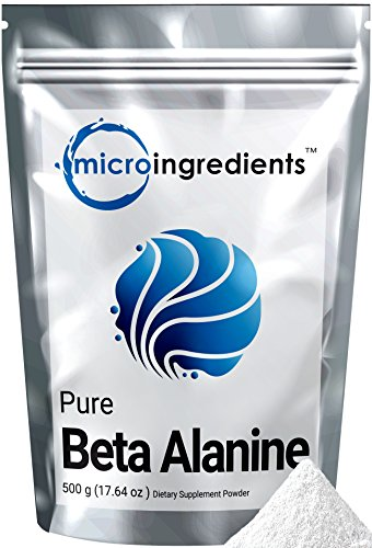 Micro Ingredients Pure Beta Alanine Powder, 500 grams (1.1 lb)
