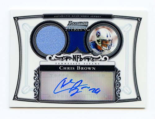 2006 Bowman Sterling Chris Brown Jersey Autograph #BS-CB - Tennessee Titans