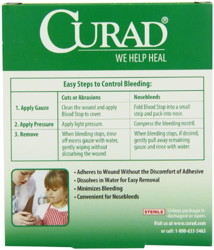 Curad Bloodstop Hemostatic Gauze, 1 X 1 Inches, 10 Count by Curad (Image #4)