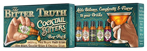 The Bitter Truth Cocktail Bitters Bar Pack 1 Set of 5 Different Flavors Tonic, Peach, Olive, Cucumber, Chocolate Size: 100ml (5 x 20ml)