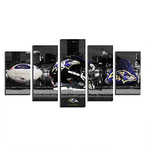 Super Bowl Baltimore Ravens Logo NFL Football Paintings Canvas Prints Picture Wall Art Poster Artwork Decor