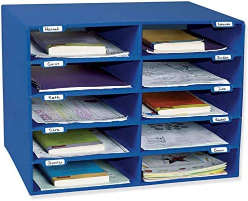 Pacon PAC1309 Classroom Keepers Mailbox, 10 Slots, Blue