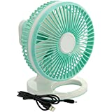 e-joy Oscillating Table Fan 2-Speed Desk Fan Air Circulator Fan USB Powered, Desktop Fans