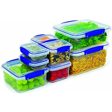 Sistema Klip It Collection Multi Piece Food Storage Containers, Set of 16(8 containers and 8 Lids)