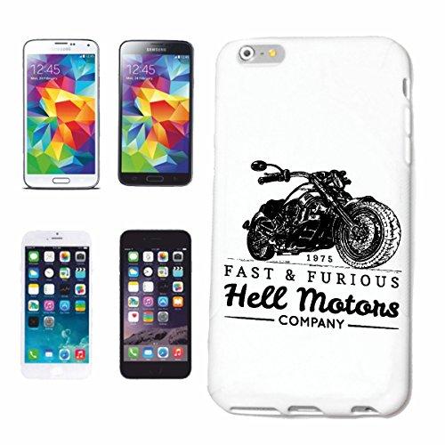 """cas de téléphone iPhone 6S """"MOTEUR LUMIERE BIKER SHIRT MOTO CHOPPER MOTO GOTHIQUE SKULL MOTO CLUB BIKE ROUTE 66"""" Hard Case Cover Téléphone Covers Smart Cover pour Apple iPhone en blanc"""