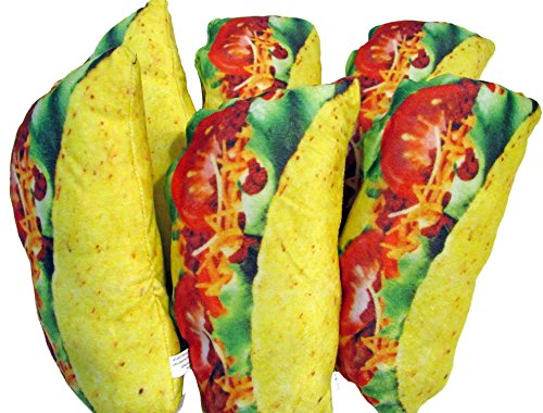 - Wonkey Brothers Fun Soft Novelty Food Throw Pillow Sets (Taco 6-Pack)