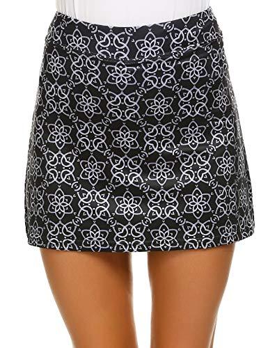 (Ekouaer Women's Active Athletic Skirts Short Multicolor Skorts Sport Workout Must Have)