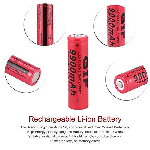 CloverLucky 3.7V 9800mAh Li-Ion Rechargeable Battery