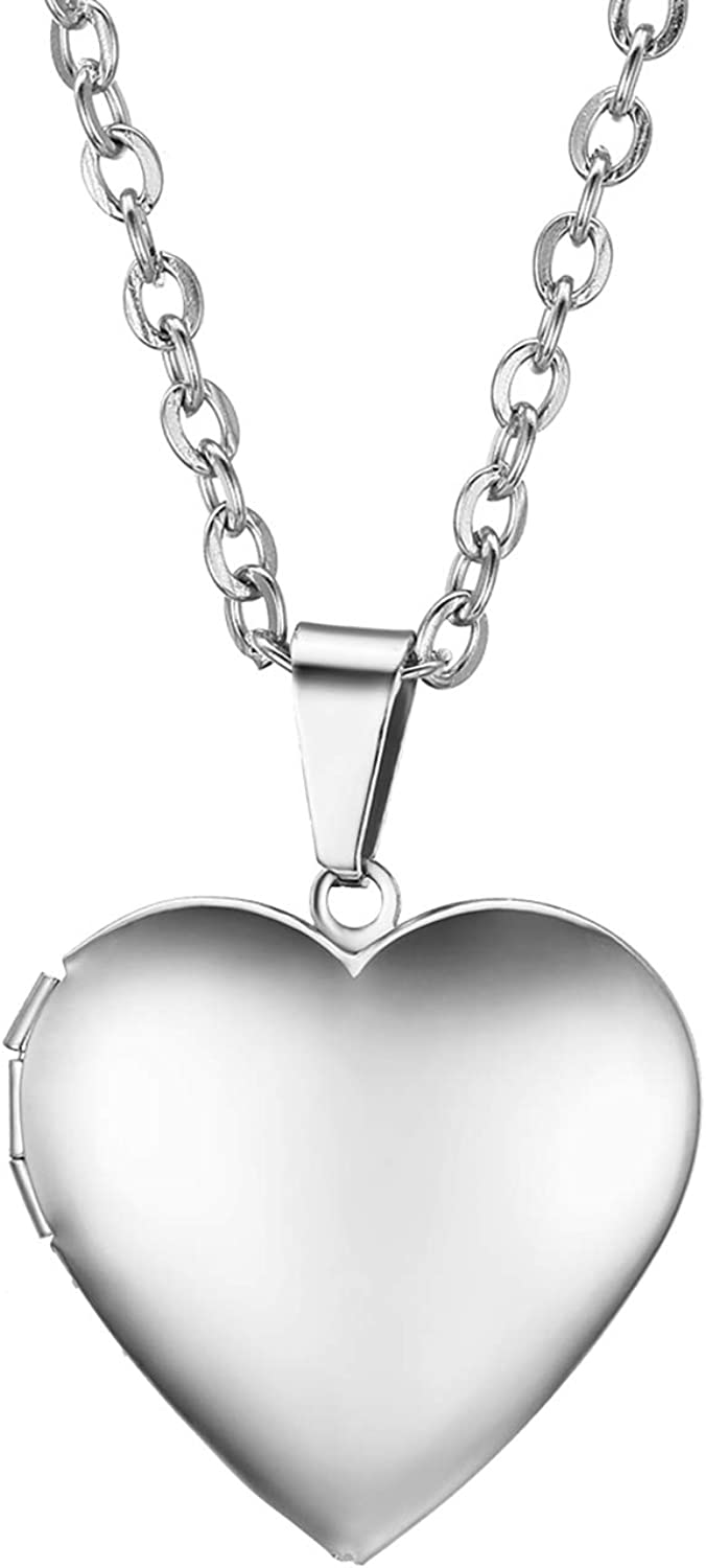 Oidea Stainless Steel Womens 4MM Beads Bracelet,Love Heart Pendant Wristband,Birthday,Valentines Gift,with Gift Bag