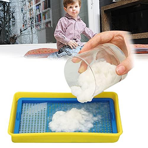 TBPERSICWT 제지 수제 장난감 종이 장난감을 과학적인 교육 플라스틱 DIY 어셈블리를 실험적인 아이를 위한 노란 파랑