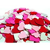 3 Set of 300 Mini Hearts Foam Stickers, Valentine's Day Heart Stickers, Arts and Crafts Decorative Stickers, Pink Heart Adhesive Children's Fun Crafts - Teacher's Art Room Crafts, Acid Free. 900pcs.