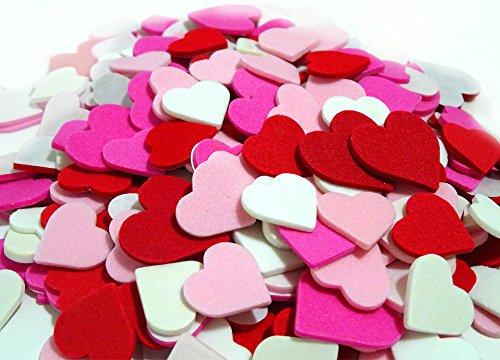 Valentine Basket Craft (2 Set of 300 Mini Hearts Foam Stickers, Valentine's Day Heart Stickers, Arts and Crafts Decorative Stickers, Pink Heart Adhesive Children's Fun Crafts - Teacher's Art Room Crafts, Acid Free.)