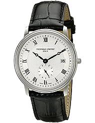 Frederique Constant FC245M4S6 Mens  Slim Line Analog Display Swiss Quartz  Watch, Black