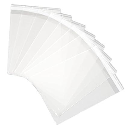 HugeDE 100 bolsas de celofán transparentes de 30 x 40 cm ...